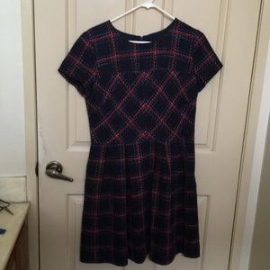 Anthropologie Dresses - Anthropologie Shoshanna navy red plaid dress